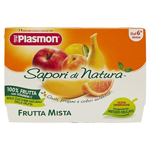 Plasmon Omogeneizzato di Frutta Mista Sdn - 24 Vasetti da 100 gr