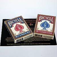 2 Bicycle Poker regular Rider Back - Blue and red back - Tours et magie magique