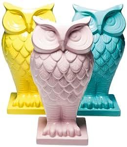 Kare Designs Vase chouette Pastel Couleurs assorties
