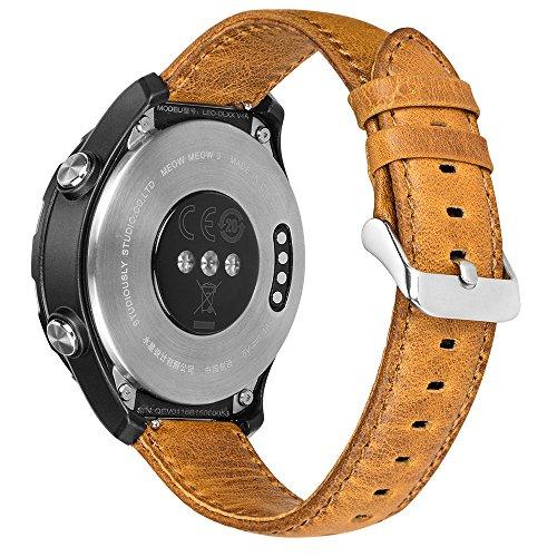 HOCO. Cinturino per Huawei Watch 2, in acciaio inossidabile da 20 mm, con rilascio rapido, color argento