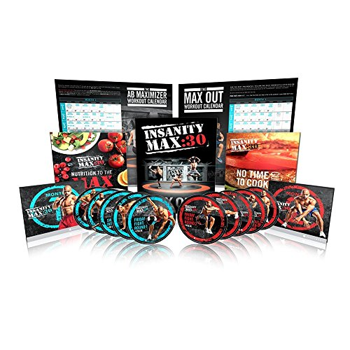 Price comparison product image Beachbody Shaun T's INSANITY MAX:30 Base Kit 12 30-minute Strength and Cardio Workouts on 10 DVDs