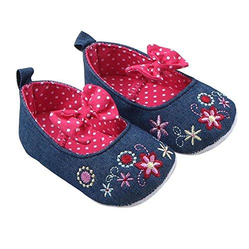 Jamicy® Kleinkind Mädchen Canvas Shoes niedlichen Baby Anti-Rutsch-Krippe Schuhe Heißes Rosa