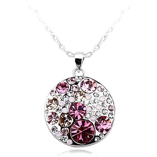 park-avenue-anhaenger-mit-kette-disc-multicolor-rose-made-with-crystals-from-swarovski