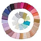Hustar Lot de 20 Rallonges de Soutien-Gorge Bra Extender Soutien-Gorge Extension de Crochet 3 Rangées 4 Crochets