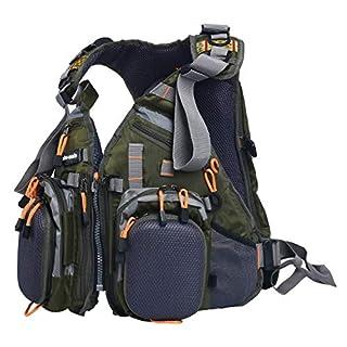 Amarine Made Fliegenfischen Rucksack, verstellbare Größe, Netzgewebe, Fliegenfischen, Weste und Rucksack