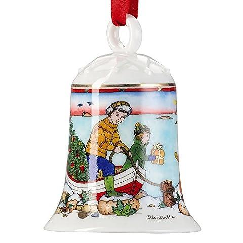 Hutschenreuther Porzellanglocke Weihnachtsglocke Glocke 2015 (Höhe ca. 7cm)