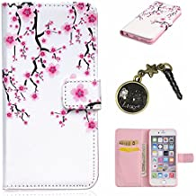 Étui Coque de Protection en Silicone Housse PU Painted PC Case Cover Étui Housse Peau Shell de cas Caches pour & # xff08; Apple iPhone6Plus 6S (5,5) + Prise de la Poussière