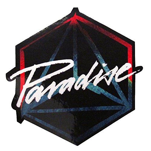 Paradise Ibiza Logo Pegatina Grande - Negro, Talla única