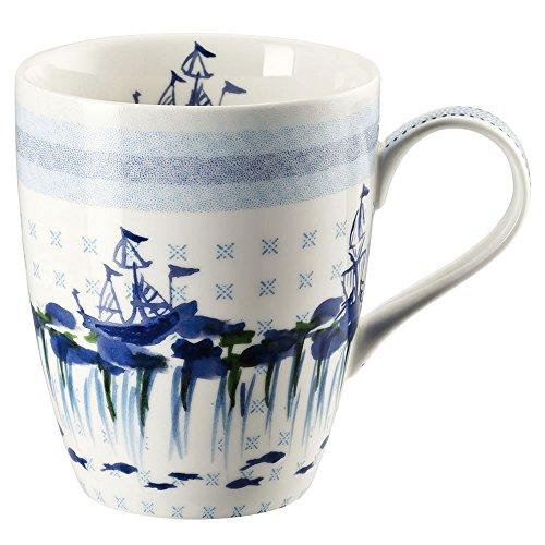 Hutschenreuther 02471-725718-15505 Lots of dots sea Becher mit Henkel 0,3 L, blau