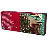 Konstsmide 2000-010 LED Baumkette mit Topbirnen /  für Innen (IP20) /  230V Innen /  16 warm weiße Dioden / grünes Kabel