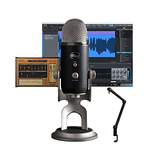 Blue Microfoni Yeti All-in-One Pro Studio Vocal System & Compass Premium Broadcast braccio dell'asta Bundle