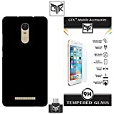 Xiaomi Redmi Note 3 Combo of 1 Back Cover + 1 Tempered Glass + 1 OTG Cable