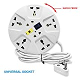 #9: Elove Extension Board , Elove 6 Amp Multi Plug Point Extension Cord (3 Meter) With Led Indicator And Universal Socket - White