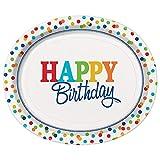 Rainbow Polka dot - Happy Birthday -  Serviettes en papier - 6.5 inches x 6.5 inches - Lot de 16