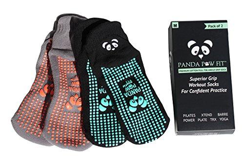 Panda Paw Fit - Paire de chaussettes antidérapantes pour le yoga 74f7af320a1