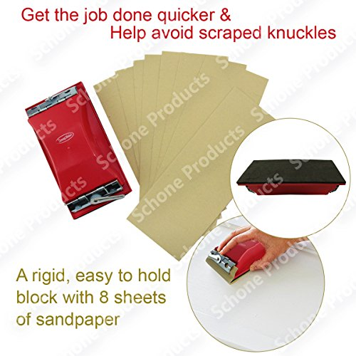 Schleifmittel Schleifen Blöcke mit 8sandpaper- für Heimwerker Wand Behandlungen, Schleifen Glätten grob, Holz