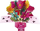 Second Nature Flowers Design Pop-Up Birthday Card