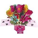 Second Nature-Biglietto di auguri per compleanno, Pop-Up, motivo: fiori