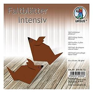 Ursus 3145572Plegable Hojas Uni, 65g/m², Aprox. 15x 15cm, 100Hojas, Color marrón Medio