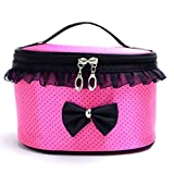 Kosmetiktasche DELLIN Portable Travel Toiletry Make-up Kosmetiktasche Organizer Halter Handtasche (Pink)