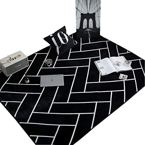 Coral Moderner Teppich (Moderner geometrischer Samtteppich, lichtbeständig und pflegeleicht, geeignet für Schlafzimmer-Wohnzimmer-Restaurantboden (95 * 95cm), 5 Größen, 3 Muster ( MUSTER : #2 , größe : 95*95cm/37.4*37.4in ))
