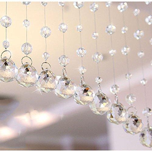 OPUSS Vorhang mit 1transparentes Glas Kristall-Perlen Vorhang Tür Fenster Vorhang, Hintergrund-Perlen mit mit Quaste Vorhang für die Hochzeit, Raum-Dekor, durchsichtig, A (Die Perlen Für Tür)