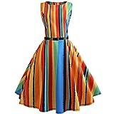 Zegeey Frauen Kalt Sollte Vintage Druck Bodycon Sleeveless Lässige Abendgesellschaft Prom Schlank Swing Dress Party