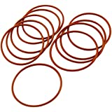 Tradico® 48mm X 2mm Silicone O Ring Oil Sealing Washers Grommets Red 10 Pcs
