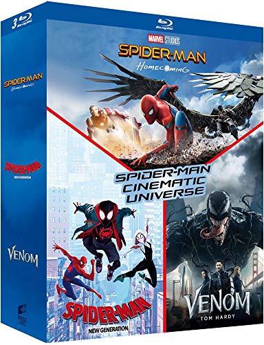 Cinematic Universe Homecoming + Spider-Man New Generation + Venom [Blu-Ray]