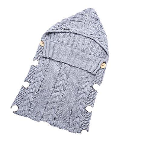Neugeborenes Babydecke Wrap Swaddle Decke, Baby Kinder Kleinkind Wolle Knit Decke Swaddle Schlafsack Schlaf Sack Stroller Wrap für 0-12 Monate Baby (Baby-quilt-decke)