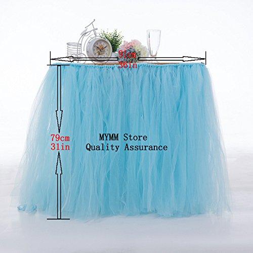 Tischröcke, romantische Tischdeko mit Tüll, Tischdekoration, Schneeflocke Wonderland Tischdecke, für Baby-Dusche, Hochzeit, Geburtstag, Party, Bar, Prom, Valentinstag Weihnachten (Rosa)