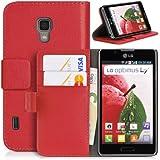 DONZO Wallet Structure Tasche für LG Optimus L7 II P710 Rot