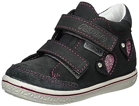 Ricosta Mädchen Lara Hohe Sneaker, Grau (Grigio), 24 EU