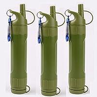 WJW Filtro de Agua para Aire Libre Camping Tratamiento de Agua 5/3,Threepacks