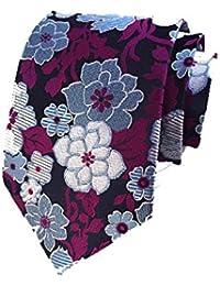 Corbata Hombre Bordado Flor Negocios Paisley Caballero Casual Precioso Para Ropa festiva Púrpura Elegante Vintage Negocio