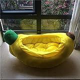 Muzyo Haustier-Bett-Welpen-Katze-Bananen-Art-Zwinger-Baumwollstreu-Hundenest-Haustier-Kissen-Zwinger-Katzen-Bett-Haustier-Nest-Teddy-VIP-Sofa