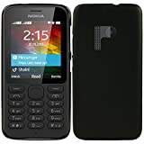 Nokia 215 / 215 Dual Sim TPU Gel Case - Schwarz Silikon Tpu