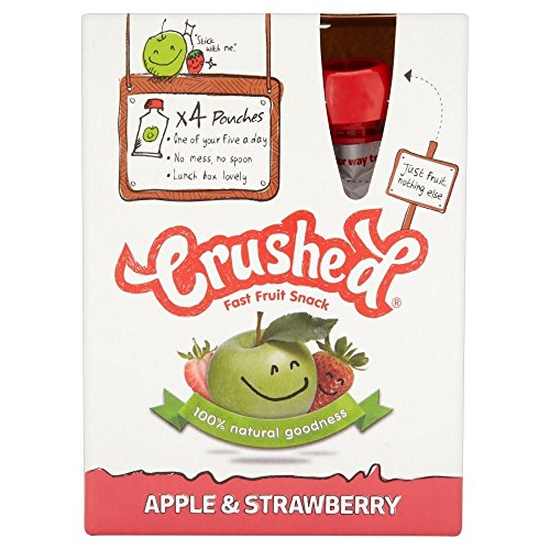 Crushed Apple & Strawberry Fruit rapide Snack (4x100g) - Paquet de 6