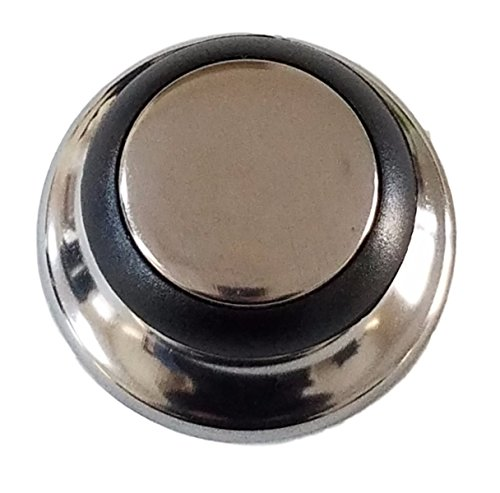 Horizon Cookware 6099 Universal Kitchen Replacement Pot Lid Cover Knob Handle - Black/Silver