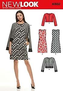 New Look NL6302 Patron de Couture Ensemble Robe et Gilet 22 x 15 cm