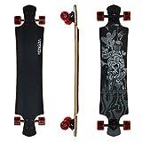 """Hengda® 42"""" Longboard Street Board Cruiserboard Skateboard Härtegrad 80A Komplettboard ABEC 9 Kugellager Engel & Totenkopf"""
