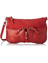 Mila Louise Ilef Spk/ec - Bolso bandolera de Piel  Mujer Rojo Rouge (Rubi)