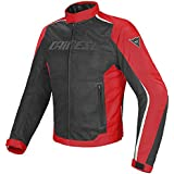 Dainese Hydra Flux D-Dry Motorradjacke, Schwarz/Rot/Weiß, Größe 60