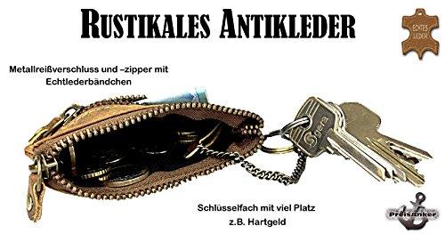 Vintage Schlüsseltasche Schlüsseletui Schlüsselmäppchen Leder Muster 3 Muster 4
