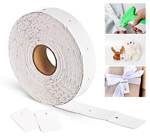1000 Etichette Prezzi, Bianco Label Scheda Vuota Tags Marcatura Tag Dono Label Cartellini per Gioielli Abbigliamento Tag 30 mm x 45 mm