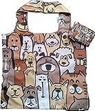Chilino 230 Doggies Faltbare Mehrwegtasche/Umweltfreundlich/Hohe Tragkraft und Fassungsvermögen, Polyester
