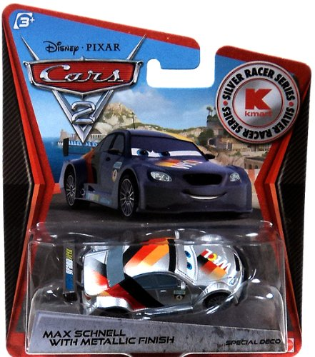 disney-pixar-cars-2-exclusive-155-die-cast-car-silver-racer-max-schnell-with-metallic-finish-vehicul