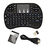 Woowo i8 + Mini 2.4G 2.4GHz Wireless Touchpad Keyboard mit Maus für PC, PAD, XBox 360, PS3, Google Android TV Box, HTPC, IPTV Schwarz