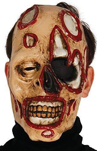 Fancy Me Herren Zombie Gesichtsmaske Blood Pistole Bild Kostüm Verkleidung Zubehör (Zombie Kostüme Bilder)