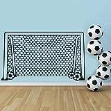 Jixiaosheng Fußball Fußball Tor Net Ball Sport Wandtattoo Vinyl Dekor Kunst Wandaufkleber Für Jungen Zimmer Kinder Kindergarten Wohnkultur Wandbild